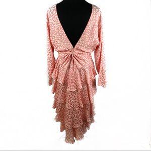 Epic 100% silk ruffles party dress